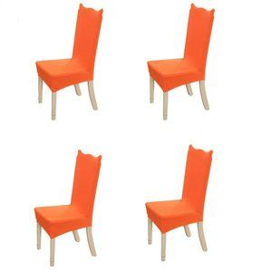 4-Pack Kitchen Dining Chair Cover Slipcover Orange